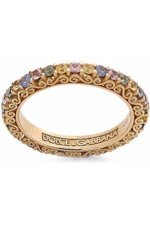 Dolce & Gabbana Women Rings - 18kt yellow Heritage sapphire band ring