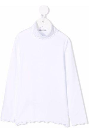 Il gufo Fluted-hem long-sleeve top