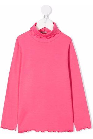 Il gufo Girls Blouses - Fluted-hem long-sleeve top