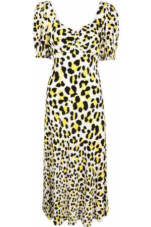 Diane von Furstenberg Women Printed Dresses - Leopard-print midi dress