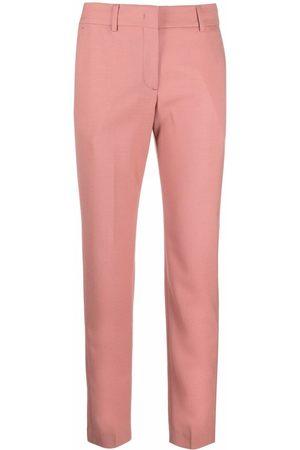 Paul Smith Women Straight Leg Pants - Straight-leg cropped wool trousers