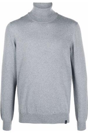 FAY Roll-neck virgin wool jumper - Grey