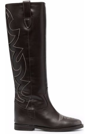 Via Roma Women Thigh High Boots - Western-style knee-high boots