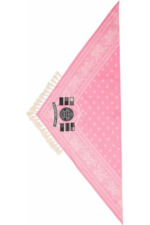 Burberry Logo-patch paisley-print scarf