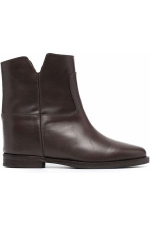Via Roma Women Ankle Boots - Cut-out leather ankle boots