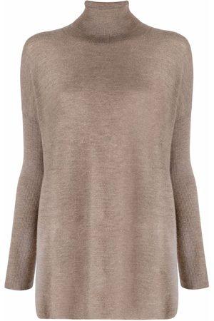 GENTRYPORTOFINO Roll neck jumper - Grey