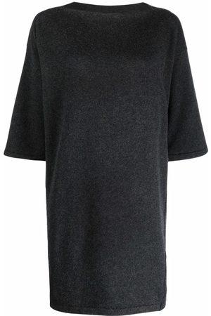 GENTRYPORTOFINO Shift knit dress - Grey