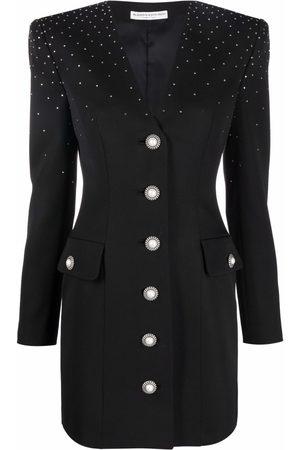 Alessandra Rich Women Party Dresses - Crystal-embellished V-neck dress