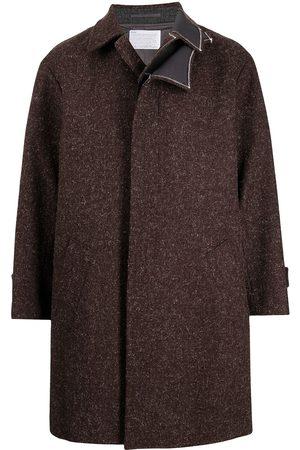 Kolor Layer-detail single breasted coat