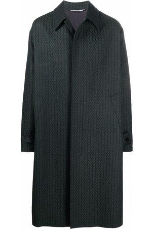VALENTINO Optical motif single-breasted coat