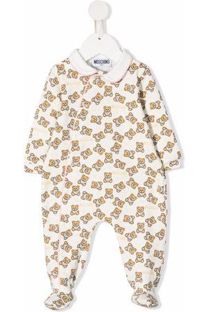 Moschino Pajamas - Teddy bear-print pyjamas - Neutrals
