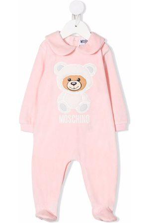 Moschino Pajamas - Peter Pan-collar teddy-detail pajamas