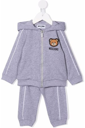 Moschino Loungewear - Patch-detail two-piece tracksuit set - Grey