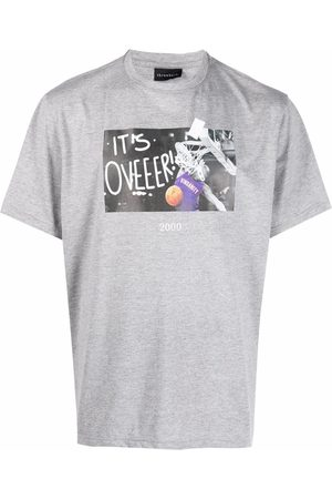 Throwback. It's Over graphic-print T-shirt - Grey