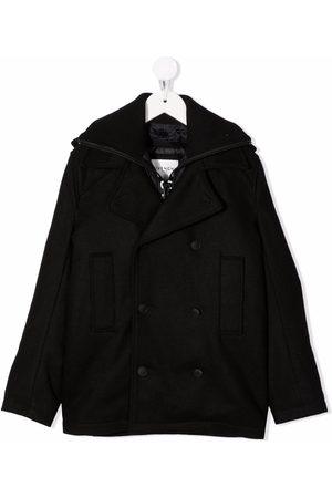 Givenchy Boys Coats - Logo print double breasted coat