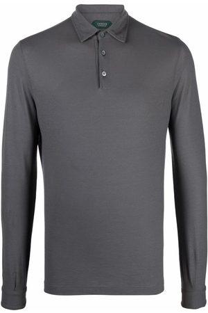 ZANONE Long-sleeved polo shirt - Grey