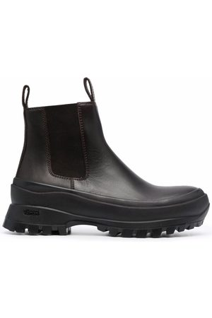 Jil Sander Women Chelsea Boots - Vibram-sole Chelsea boots - 545 MOKA