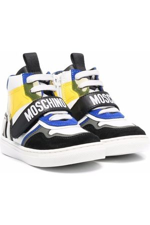 Moschino Boys Sneakers - Colour-block high top sneakers