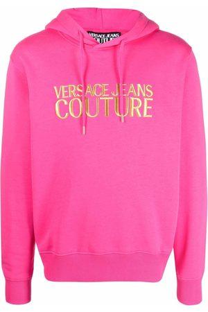 VERSACE Men Hoodies - Embroidered logo hoodie