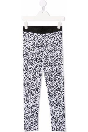Pinko Kids Leopard-print stretch-cotton leggings