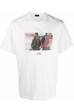 Throwback. Graphic-print cotton T-shirt