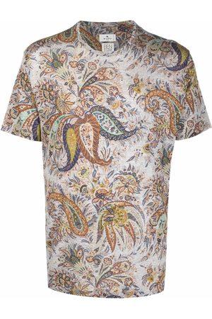 Etro Paisley-print short-sleeve T-shirt - Grey