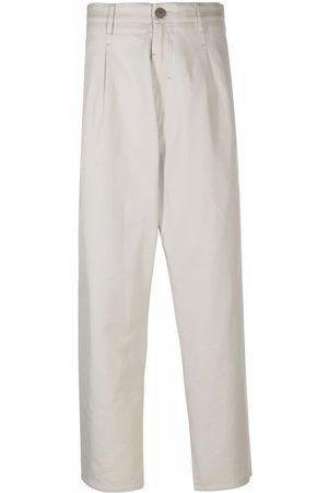 Stone Island Straight-leg cotton chinos - Grey
