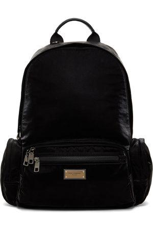 Dolce & Gabbana Men Luggage - Black Nylon Sicilia DNA Backpack