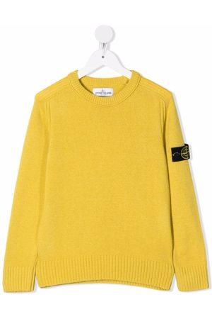 Stone Island Boys Sweatshirts - Compass-patch crewneck sweatshirt