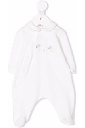Il gufo Bodysuits & All-In-Ones - Sheep-embroidered babygrow