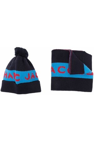 The Marc Jacobs Logo-print knitted accessory set