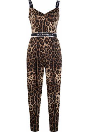Dolce & Gabbana Women Jumpsuits - Leopard-print jumpsuit