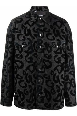 Dolce & Gabbana Men Shirts - Typography print shirt