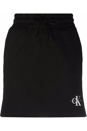 Calvin Klein Women Printed Skirts - Logo-print organic cotton skirt