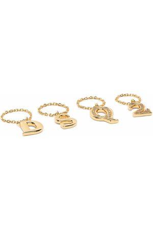 Dsquared2 Women Rings - Logo-lettering ring set