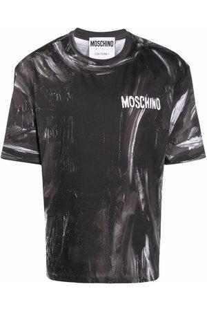 Moschino Men Short Sleeve - Paint-effect short-sleeve T-shirt