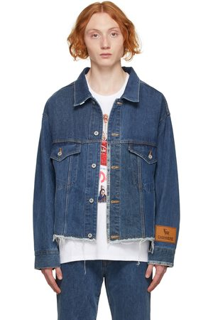 DOUBLET Men Denim Jackets - Blue Upcycled Original Denim Jacket
