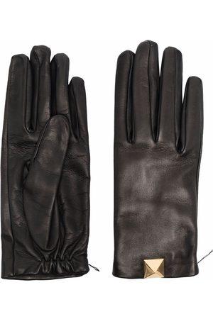 VALENTINO GARAVANI Roman Stud leather gloves