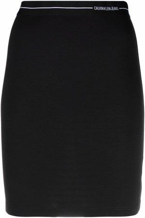 Calvin Klein Logo-print fitted miniskirt
