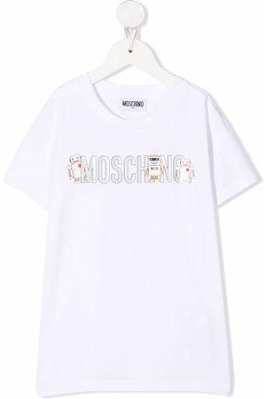 Moschino Logo-print short-sleeved T-shirt