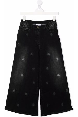 MONNALISA TEEN wide-leg denim jeans