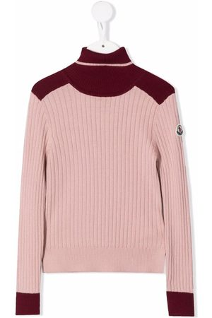 Moncler Two-toned high-neck jumper