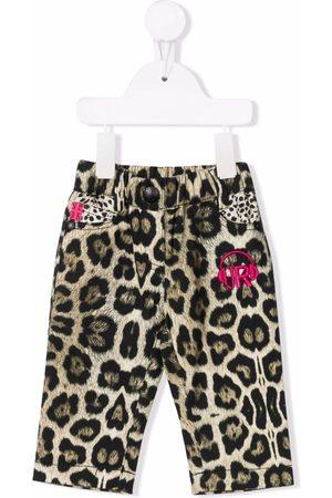 John Richmond Junior Leopard-print jeans - Neutrals