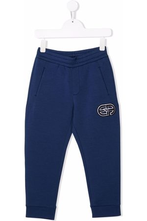 Emporio Armani Embroidered patch track pants