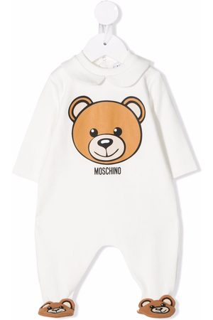 Moschino Teddy Bear-slipper logo pyjamas