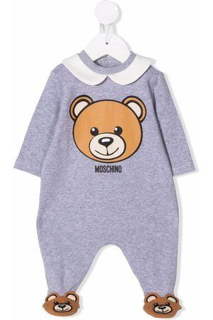 Moschino Bear-print romper - Grey