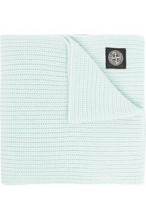 Stone Island Men Scarves - Logo-patch wool scarf