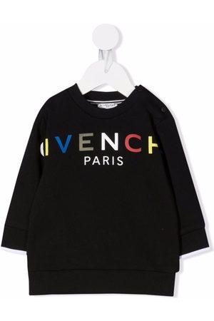 Givenchy Hoodies - Logo-print crew-neck sweatshirt