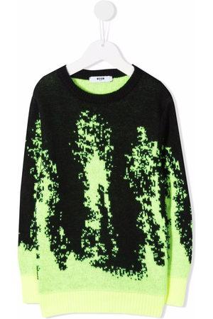 Msgm Boys Hoodies - Glitch-print jumper