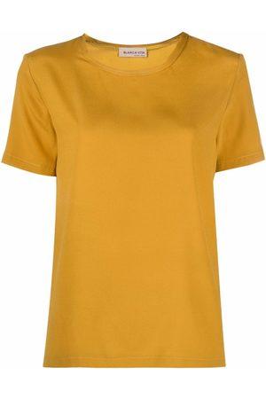BLANCA Satin crewneck T-shirt